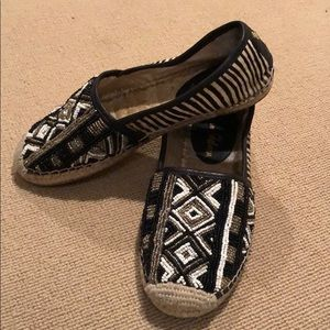 Sam Edelman Beaded Espadrille with animal print